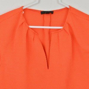 J CREW 00P Orange Polka Dot Blouse Womens Shirt